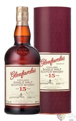 Glenfarclas 15 years old single malt Speyside whisky 46% vol.  0.70 l