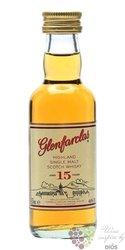 Glenfarclas 15 years old Speyside whisky 46% vol.  0.05 l