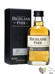 Highland Park 25 years old single malt Orkney whisky 50.7% vol.   0.05 l