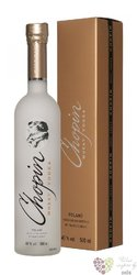 "Chopin "" Wheat "" gift box premium vodka of Poland 40% vol.    0.70 l"