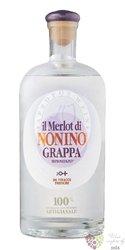 """Grappa di Merlot """" I vigneti monovitigno """" Friuli distilleria Nonino 41% vol. 0.70 l"""