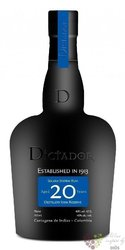 "Dictador "" Icon reserve "" 20 years old rum of Colombia 40% vol.   0.05 l"