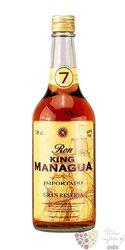 """King Managua """" Gran Reserva """" aged 7 years Nicaraguan rum 40% vol.    0.70 l"""