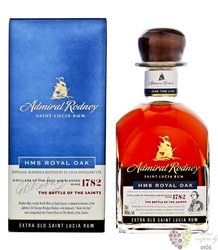 "Admiral Rodney "" HMS Royal Oak "" aged Saint Lucia rum 40% vol.  0.70 l"