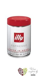"Illy "" Red "" whole beans Italian coffee in metal box    250 g"