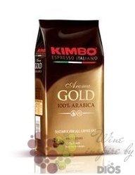 "Kimbo "" Aroma Gold"" whole beans 100% Arabica Italian coffee 250 g"
