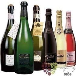 """Kolekce vybraných světových šumivých vín """" Sparkling I """"    6 x 0.75 l"""