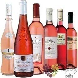 """Kolekce vybraných růžových světových vín """" Rosé """"     6 x 0.75 l"""