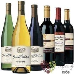 """Kolekce podle zemí """" USA """" karton vybraných amerických vín    6 x 0.75 l"""