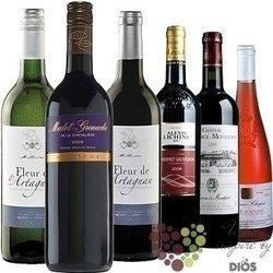 """Kolekce podle zemí """" France I """" karton vybraných francouzských vín    6 x 0.75 l"""