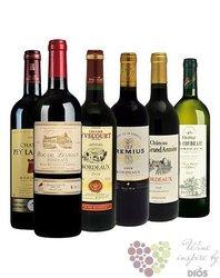 """Kolekce vybraných francouzských vín z vinařské oblasti Bordeaux """" Basic """"   6 x0.75 l"""