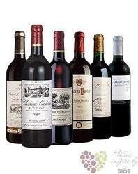 """Kolekce vybraných francouzských vín z vinařské oblasti Bordeaux """" Medium """"   6 x 0.75 l"""