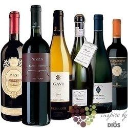 """Kolekce podle zemí """" Italy II """" karton vybraných italských vín    6 x 0.75 l"""