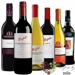 """Kolekce podle zemí """" Australia """" karton vybraných australských vín    6 x 0.75 l"""