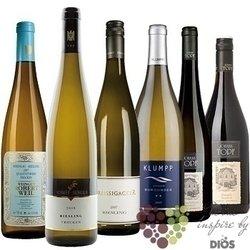"""Kolekce podle zemí """" Austria & Germany """" karton vybraných typických vín    6 x 0.75 l"""