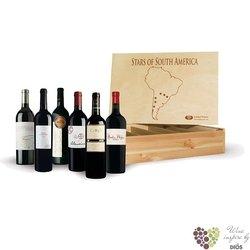"""Kolekce podle kontinentů """" South America II """" karton vybraných Velkých jihoamerických vín 6 x 0.75 l"""