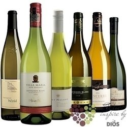 """Kolekce vybraných bílých vín jedné odrůdy """" Sauvignon blanc """"     6 x 0.75 l"""