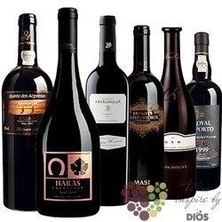 """Kolekce vín podle chuti """" Chocolate """" karton vybraných čokoládových vín    6 x 0.75 l"""