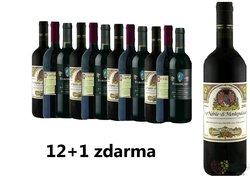 Vino Nobile 12+1 lahev za jedinou korunu