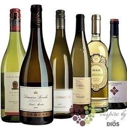 """Kolekce vybraných bílých světových vín """" White I """"      6 x 0.75 l"""