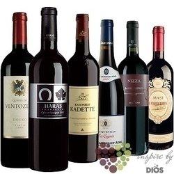 """Kolekce vybraných červených světových vín """" Red I """"     6 x 0.75 l"""