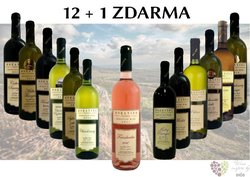 Víno z vinařství Moravino 12+1 lahev za jedinou korunu