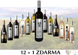 Víno z vinařství Plaček 12+1 lahev za jedinou korunu