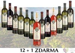 Víno ze Šlechtitelské stanice Velké Pavlovice 12+1 lahev za jedinou korunu