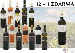 Víno z vinařství Tetur 12+1 lahev za jedinou korunu