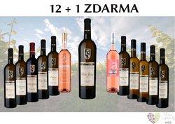 Víno z vinařství Spielberg 12+1 lahev za jedinou korunu
