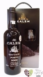 Cálem Vintage 2000 glass pack declared vintage ruby Porto Doc 20% vol.   0.75 l