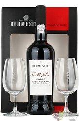 "Burmester fine "" Ruby "" 2glass set Porto Doc 20% vol.  0.75 l"