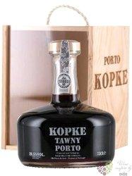 "Kopke "" Tawny "" wood box decanter fine Porto Doc 20% vol.    0.75 l"