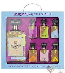 """diSaronno """" Trussardi """"  ltd. edition gift set Italian amaretto by Illva Saronno 28% vol. 1.00l"""