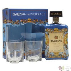 "diSaronno "" Versace 2glass "" ltd. edition Italian amaretto by Illva Saronno 28%vol. 0.70 l"