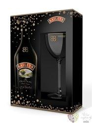 "Baileys "" Original "" glass pack Irish whiskey cream liqueur 17% vol.  0.70 l"