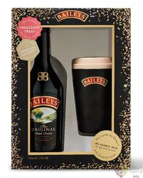"Baileys "" Original "" mug set Irish whiskey cream liqueur 17% vol.  0.70 l"