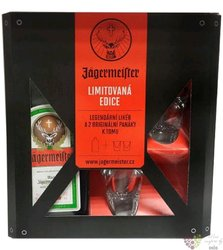 Jagermeister 2glass pack original German herbal liqueur 35% vol.  0.70 l