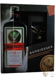 Jagermeister original pourer set original German herbal liqueur 35% vol.  0.70 l