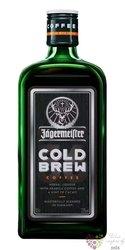 """Jagermeister """" Cold Brew Coffee """" German herbal liqueur 33% vol.  0.50 l"""