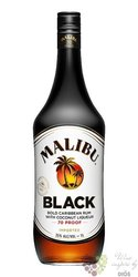 "Malibu "" Black "" original Caribbean flavored rum 35% vol.  1.00 l"