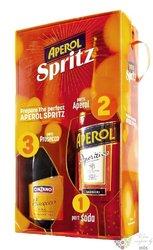 Aperol Spritz Duopack Italian bitter liqueur by Barbieri 11% vol.  1.00 l
