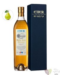 """Hans Etter les vieilles barriques """" Poire """" gift box Swiss fruits brandy 40% vol. 0.70 l"""