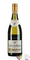 """Cotes du Rhone blanc """" Viognier """" Aoc 2013 J.Vidal - Fleury      0.75 l"""