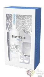 "Belvedere "" Pure "" 2glass pack premium Polish vodka 40% vol.   0.70 l"