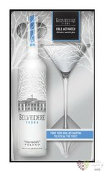 "Belvedere "" Pure "" Martini glass pack premium Polish vodka 40% vol.  0.70 l"