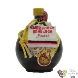 """Gusano Rojo """" Olla Ambar """" original 100% of agave Mexican Mezcal 38% vol.  1.00l"""