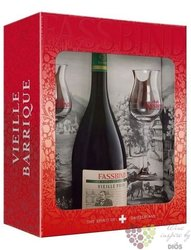 "Fassbind les vieilles barriques "" Poire "" 2 glass pack Swiss fruits brandy 40% vol. 0.70 l"