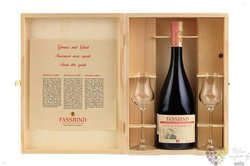 "Fassbind les vieilles barriques "" Framboise "" 2 glass pack Swiss aged brandy 40%vol.   0.70 l"