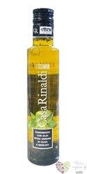 """Olio extra vergine di oliva i testimoni """" e Basilico """" casa Rinaldi   0.25 l"""